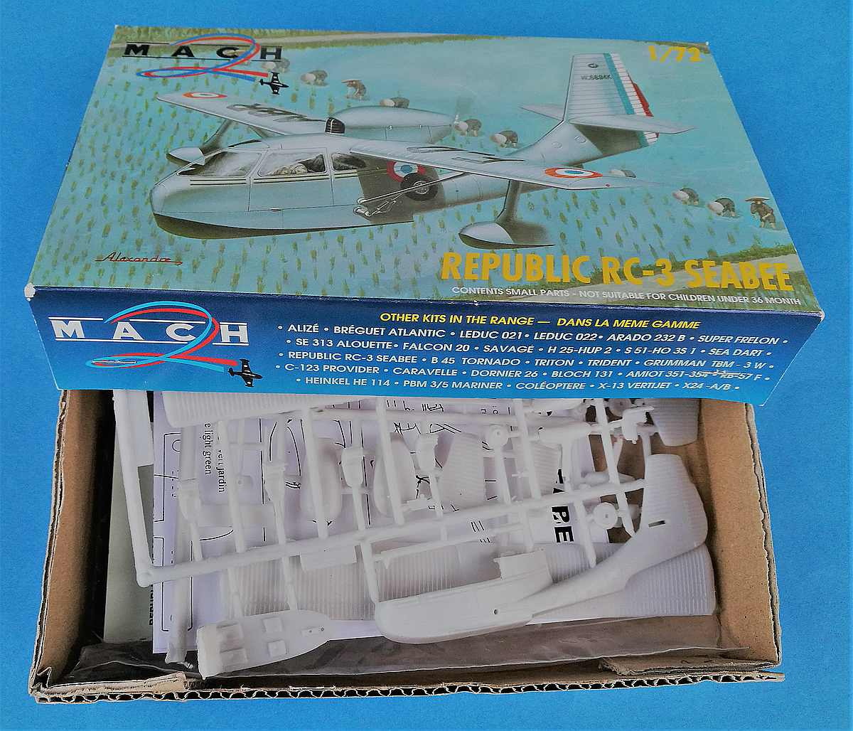MACH2-GP-027-Republic-RC-3-Seabee-2 Republic RC-3 Seabee in 1:72 von Mach 2 # GP 027