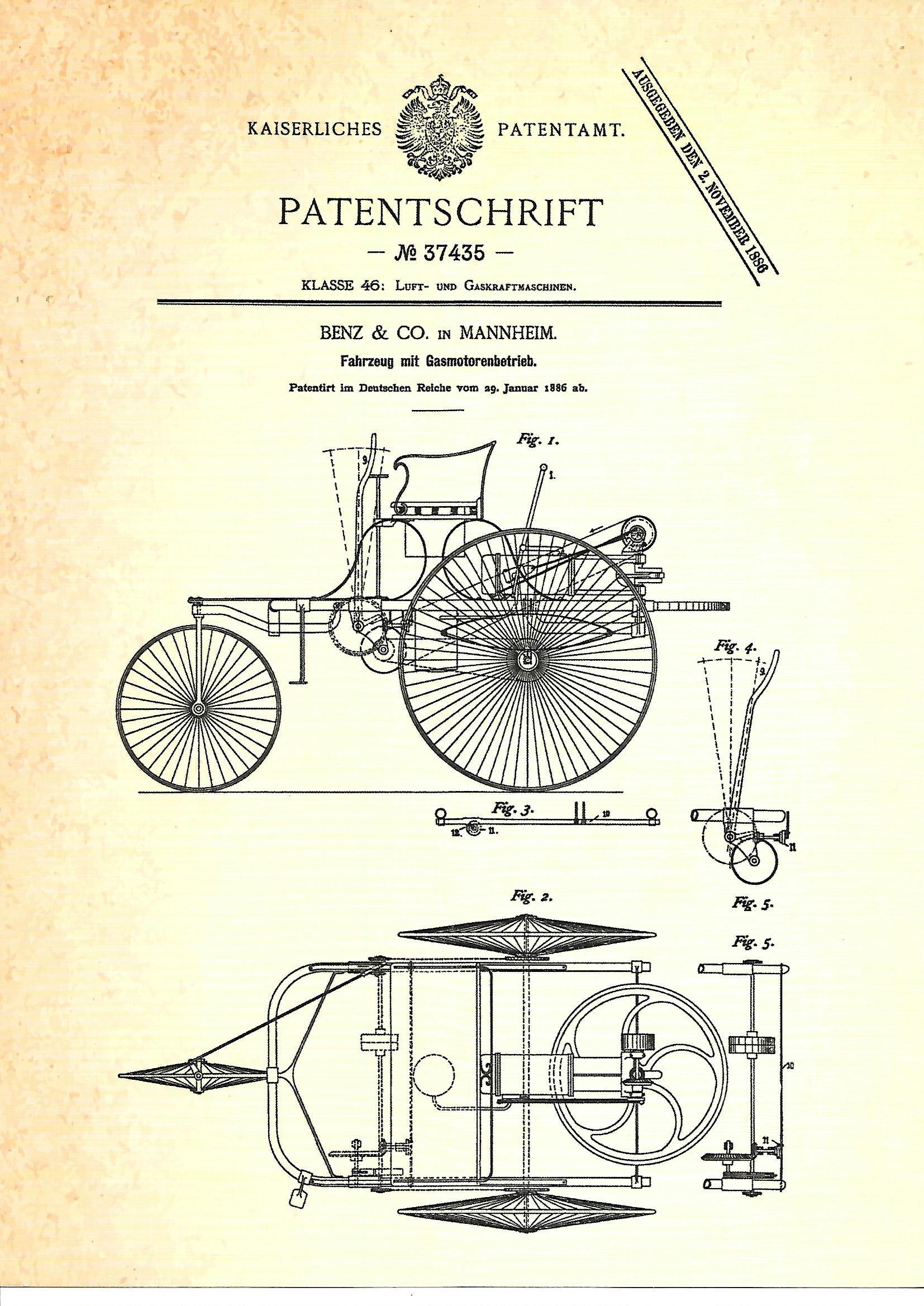 Motorbenz22 Benz Patent-Motorwagen in 1:24 von ICM #24040