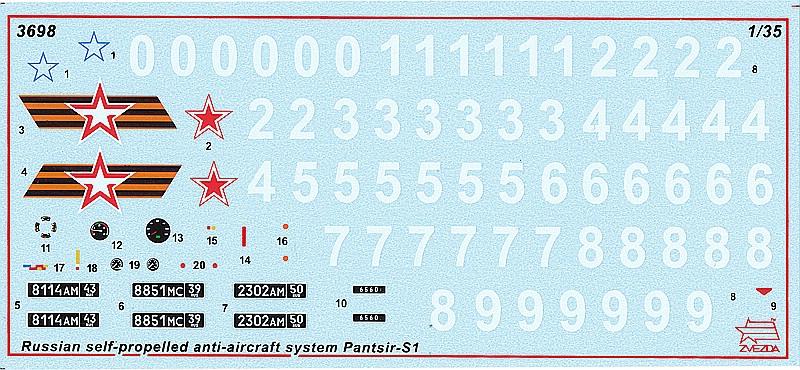 Zvezda-3698-Pantsir-S-1-Greyhound-60 Pantsir S-1 (SA-22 Greyhound) in 1:35 von Zvezda # 3698
