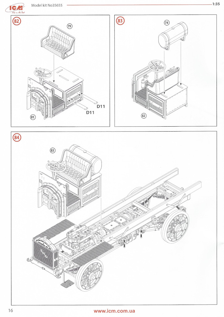 Anleitung16-2 WWI USA Army Truck FWD Type B 1:35 ICM (#35655)