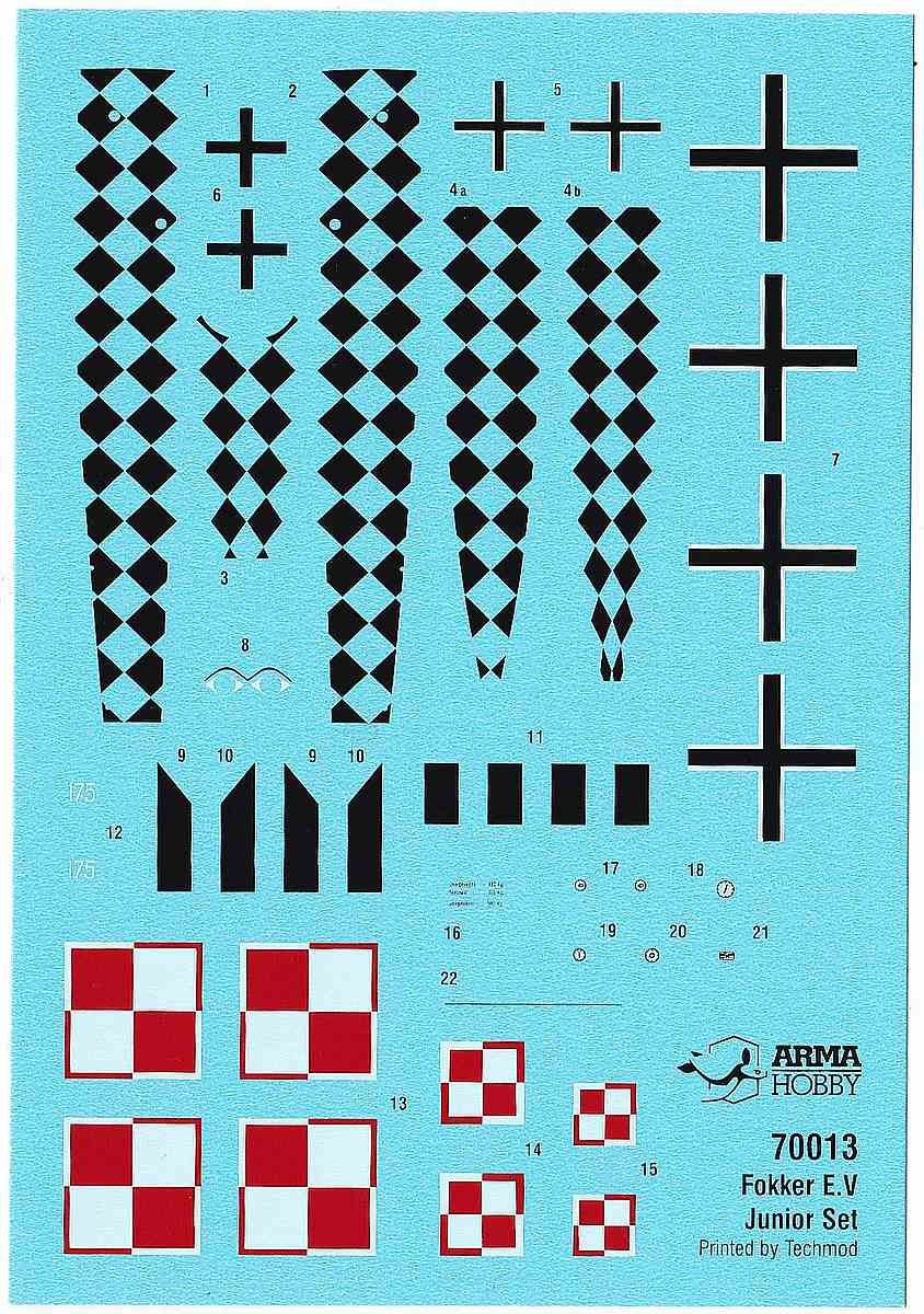 ArmaHobby-70013-Fokker-E.V-JuniorSet-7 Fokker E. V in 1:72 von Arma Hobby # Junior Set 70013