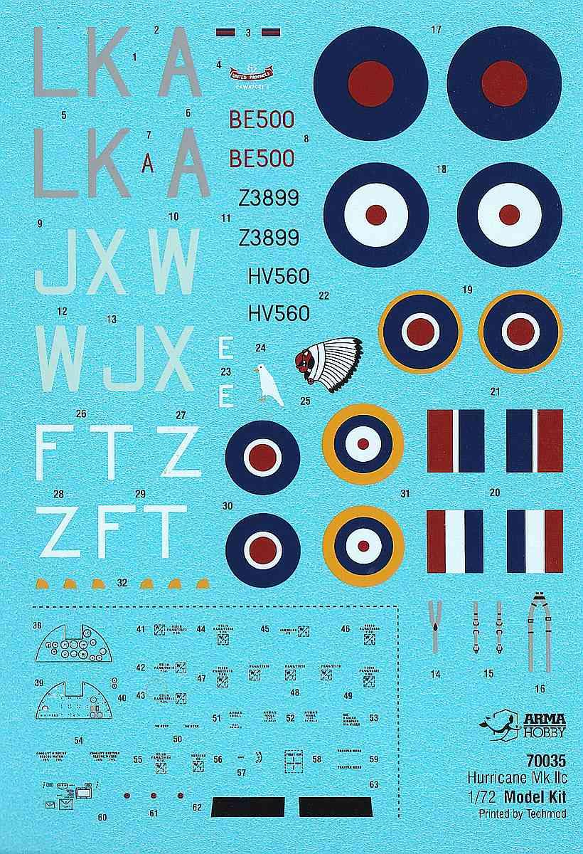 ArmaHobby-70035-Hurricane-Mk.-IIc-ExpertSet-12 Hurricane Mk. IIc in 1:72 von Arma Hobby # Expert Set 70035