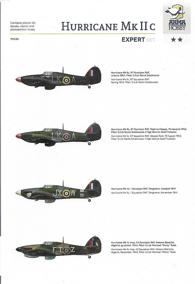 ArmaHobby-70035-Hurricane-Mk.-IIc-ExpertSet-4 Hurricane Mk. IIc in 1:72 von Arma Hobby # Expert Set 70035