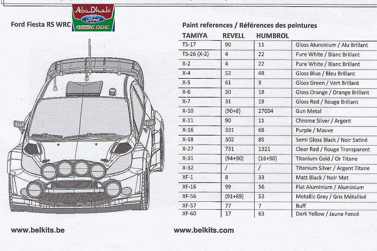 Belkits-BEL-003-Ford-Fiesta-WRC-3 Ford Fiesta WRC in 1:24 von Belkits # BEL 003
