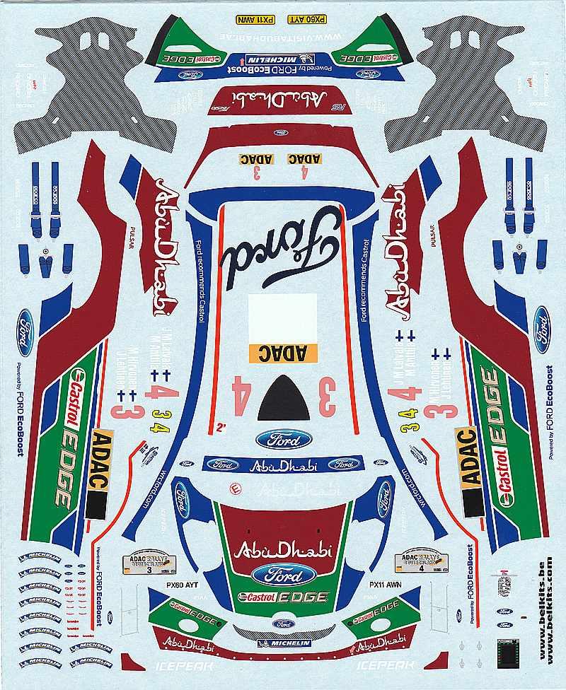 Belkits-BEL-003-Ford-Fiesta-WRC-8 Ford Fiesta WRC in 1:24 von Belkits # BEL 003
