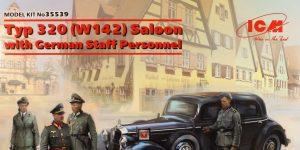 WWII German Staff Car Type 320 (W142) Saloon – ICM 1/35