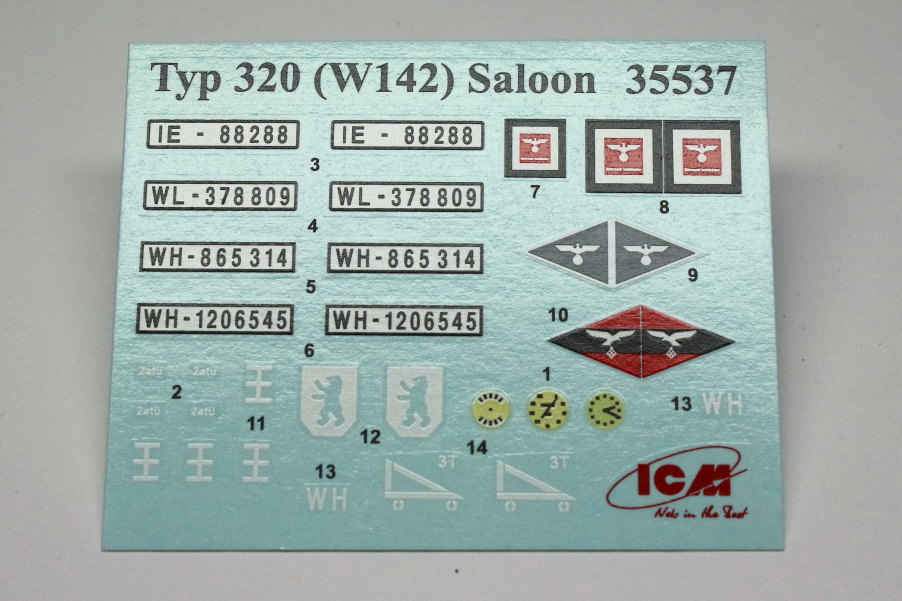 Decals-1 WWII German Staff Car Type 320 (W142) Saloon - ICM 1/35