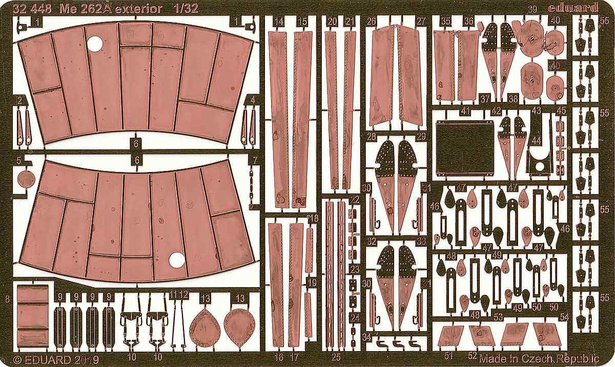 Eduard-32448-Me-262-Ätzteile-Revell Eduard Zubehör für die Revell Me 262 A-1 in 1:32