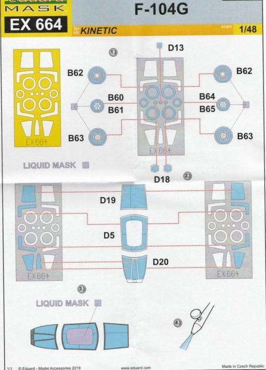 Eduard-491037-diverses-Starfighter-Early-Zubehör-19 Eduard Ätzteile und Masken für F-104G Early in 1:48