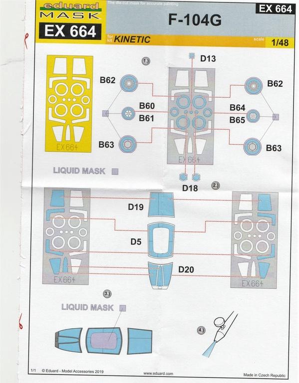 Eduard-491038-Starfighter-late-18 Eduard Ätzteile und Masken für F-104G Late in 1:48