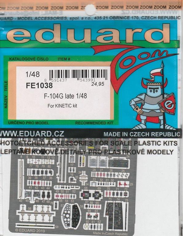 Eduard-491038-Starfighter-late-9 Eduard Ätzteile und Masken für F-104G Late in 1:48
