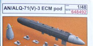 ECM-Pod ANALQ-71 V-3 in 1:48 von Eduard BRASSIN # 648492