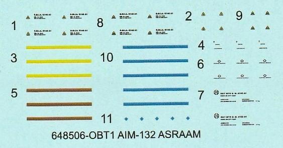 Eduard-648506-AIM-132-ASRAAM-7 Luft-Luft-Rakete AIM-132 ASRAAM in 1:48 von Eduard BRASSIN # 648506