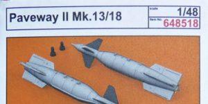 Lenkbomben Paveway II Mk. 13/18 in 1:48 von Eduard BRASSIN # 648518