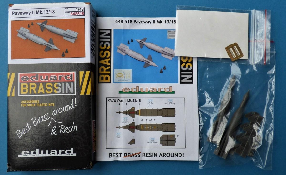 Eduard-648518-Paveway-II-Mk.-13-2 Lenkbomben Paveway II Mk. 13/18 in 1:48 von Eduard BRASSIN # 648518