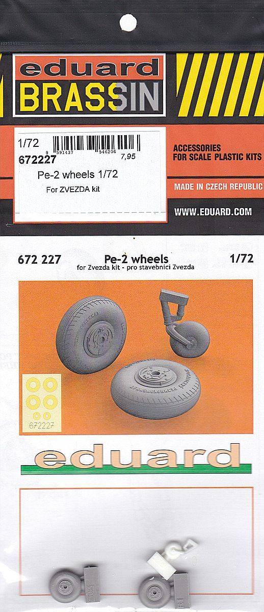 Eduard-672227-Pe-2-Wheels-BRASSIN Eduard Detailsets für die Petljakow Pe-2 in 1:72 von Zvezda