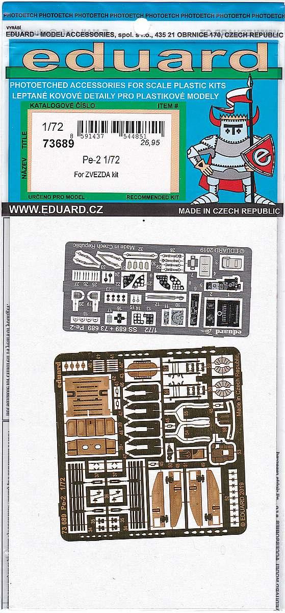 Eduard-73689-Pe-2-5 Eduard Detailsets für die Petljakow Pe-2 in 1:72 von Zvezda