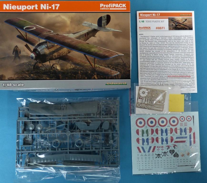 Eduard-8071-Nieuport-17-ProfiPack-2 Nieuport Ni-17 in 1:48 von Eduard als Profipack #8071