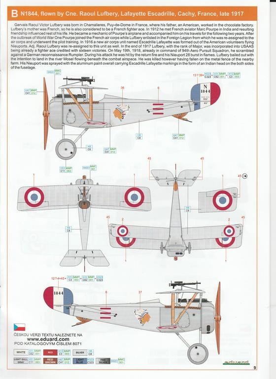Eduard-8071-Nieuport-17-ProfiPack-29 Nieuport Ni-17 in 1:48 von Eduard als Profipack #8071
