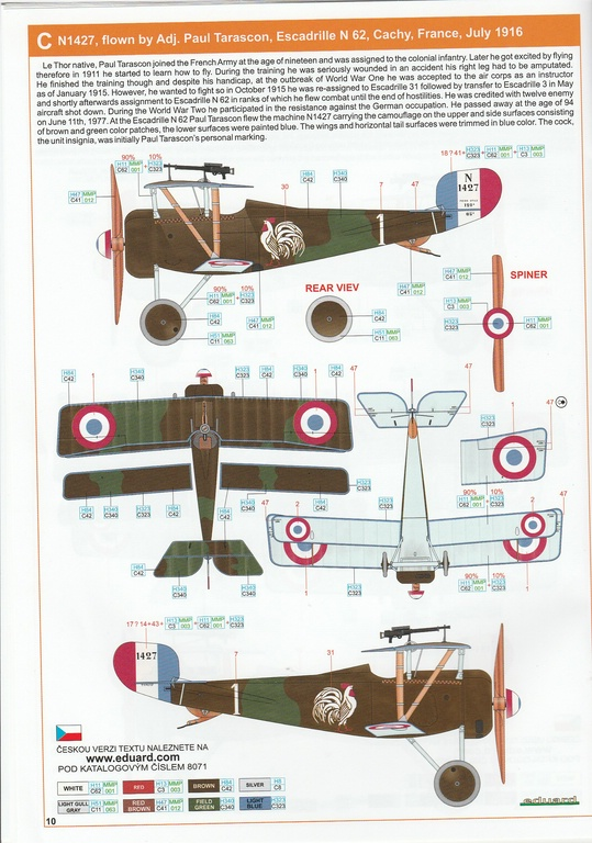 Eduard-8071-Nieuport-17-ProfiPack-30 Nieuport Ni-17 in 1:48 von Eduard als Profipack #8071