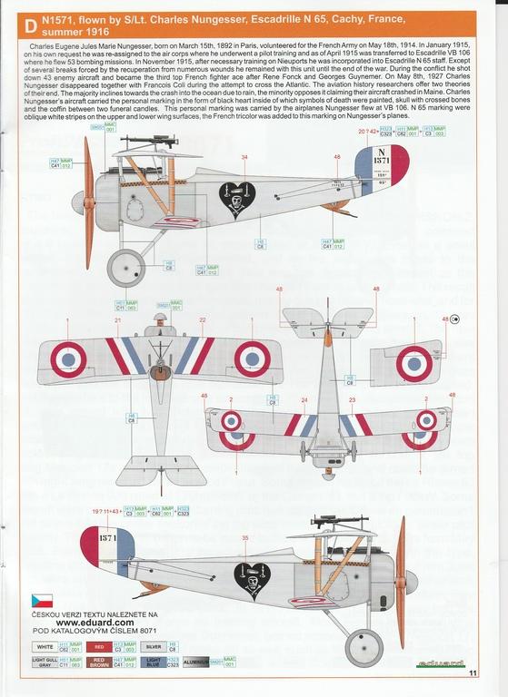 Eduard-8071-Nieuport-17-ProfiPack-31 Nieuport Ni-17 in 1:48 von Eduard als Profipack #8071
