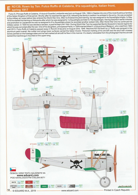 Eduard-8071-Nieuport-17-ProfiPack-32 Nieuport Ni-17 in 1:48 von Eduard als Profipack #8071