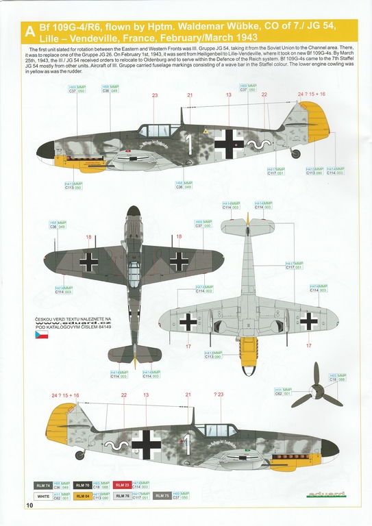 Eduard-84149-Bf-109-G-4-WEEKEND-14 Messerschmitt Bf 109G-4 in 1:48 von Eduard Weekend Edition #84149
