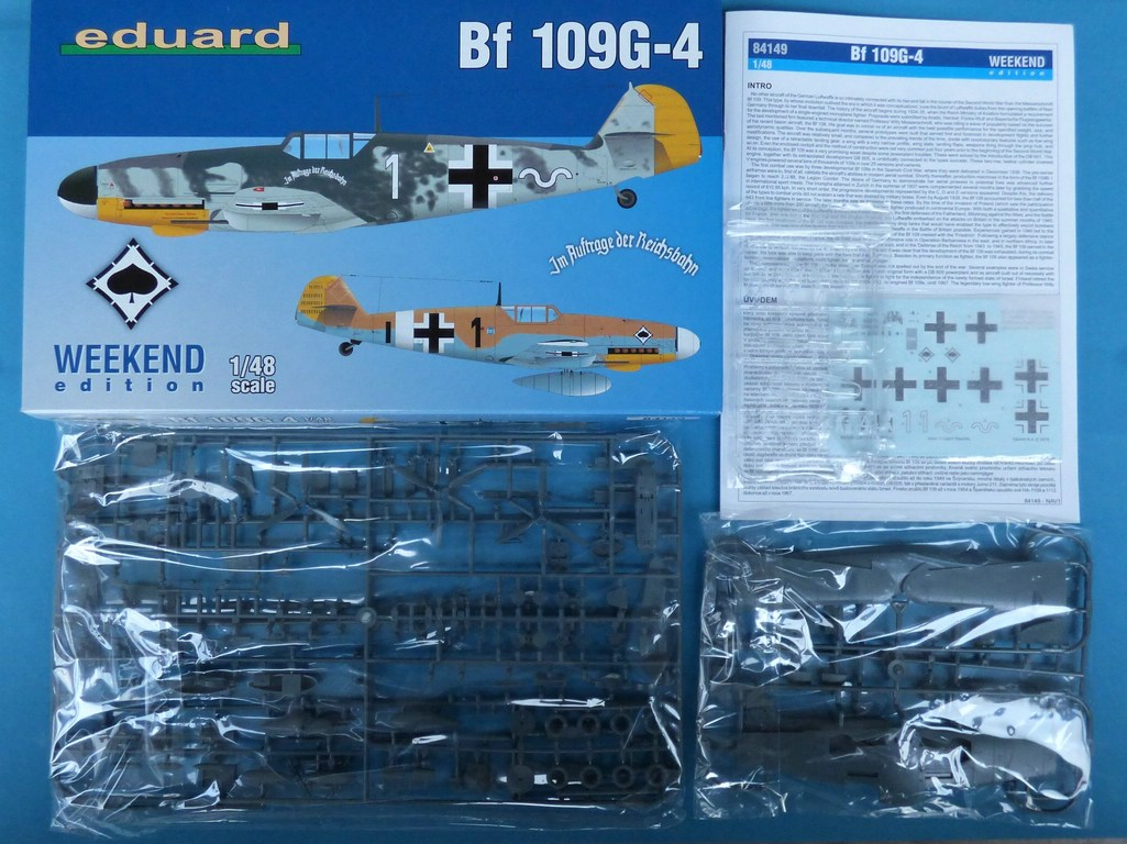 Eduard-84149-Bf-109-G-4-WEEKEND-2 Messerschmitt Bf 109G-4 in 1:48 von Eduard Weekend Edition #84149