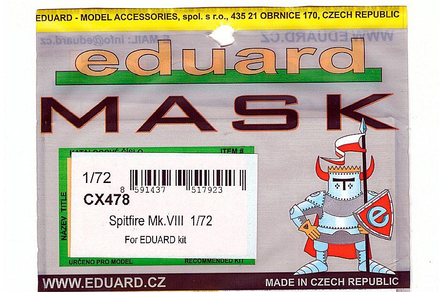 Eduard-CX-478-Spitfire-Mk-VIII-Masken-1 Detailsets für die Spitfire Mk. VIII in 1:72 von Eduard