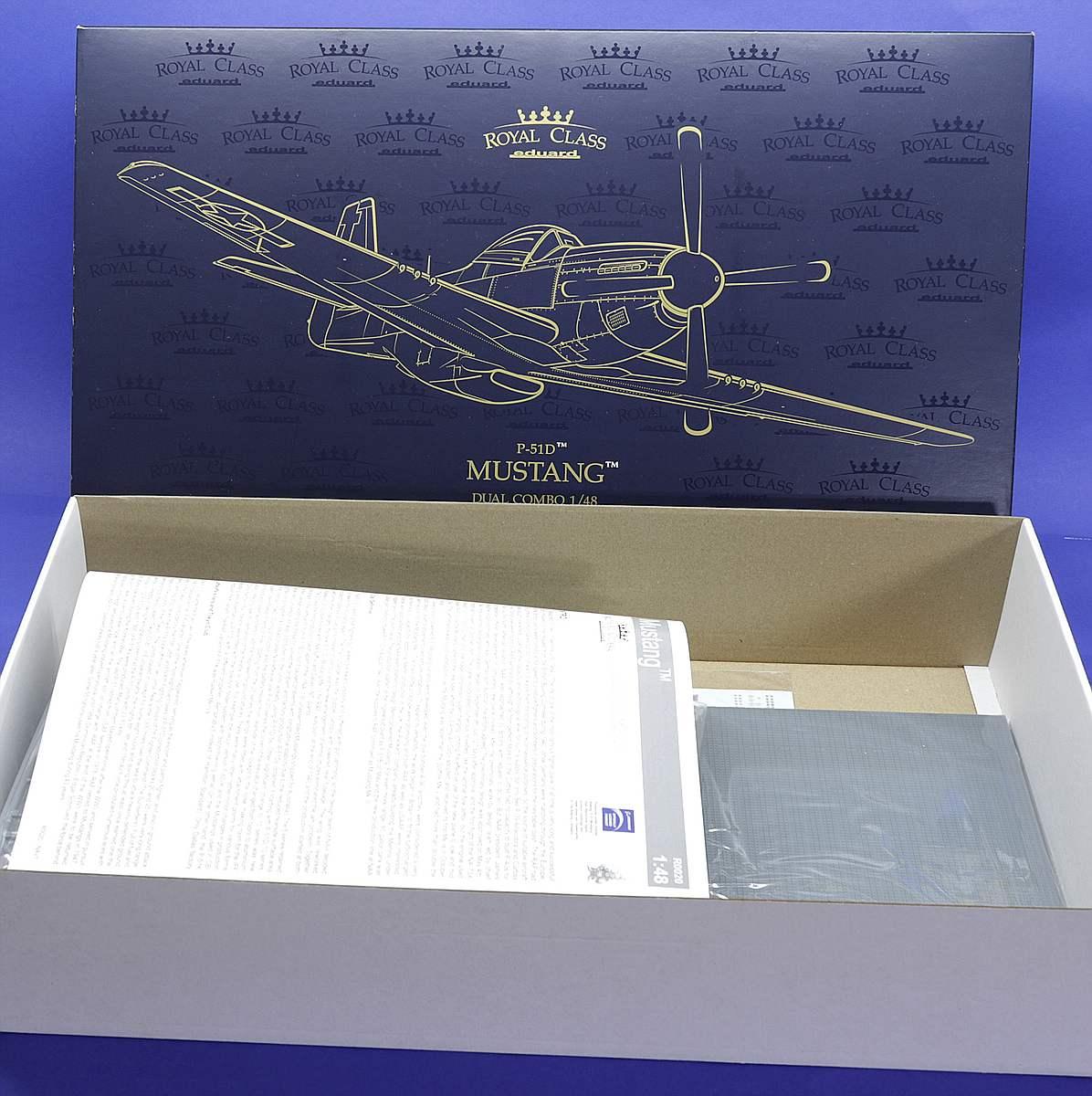 Eduard-R-0020-P-51-Mustang-Royal-Class-Karton-Übersicht Eduards P-51 Mustang in 1:48 als Royal Class Edition # R 0020
