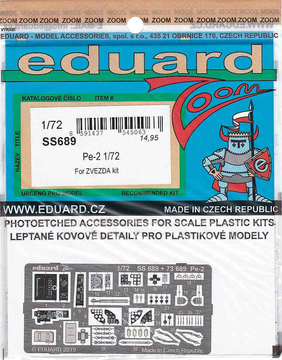 Eduard-SS-689-pe-2-ZOOM-3 Eduard Detailsets für die Petljakow Pe-2 in 1:72 von Zvezda