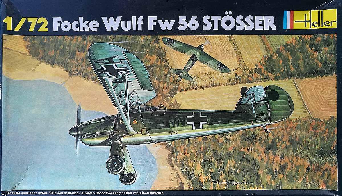 Heller-80238-Focke-Wulf-Fw-56A-1-Stösser-19 Focke Wulf FW 56 Stösser in 1:72 von Heller #80238