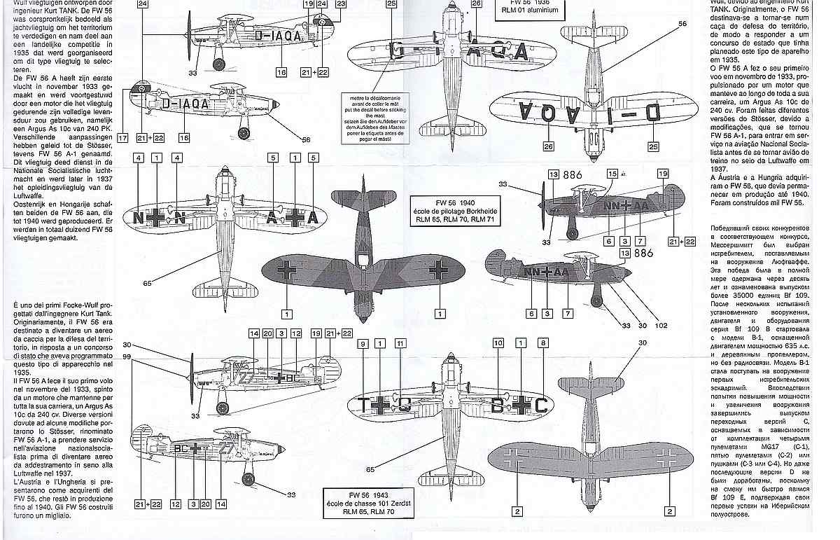 Heller-80238-Focke-Wulf-Fw-56A-1-Stösser-37 Focke Wulf FW 56 Stösser in 1:72 von Heller #80238