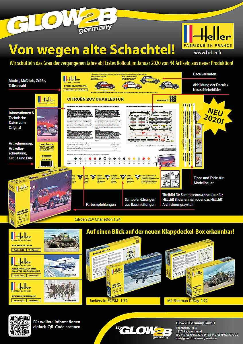 Heller-Verpackungsdesign Focke Wulf FW 56 Stösser in 1:72 von Heller #80238