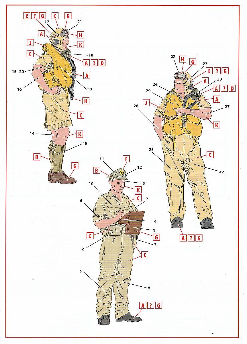 ICM-32106-British-pilots-in-tropical-uniform-3 British pilots in tropical uniform in 1:32 von ICM # 32106