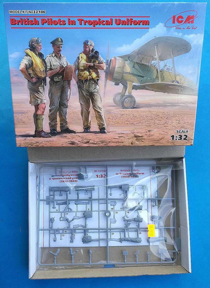 ICM-32106-British-pilots-in-tropical-uniform-4 British pilots in tropical uniform in 1:32 von ICM # 32106