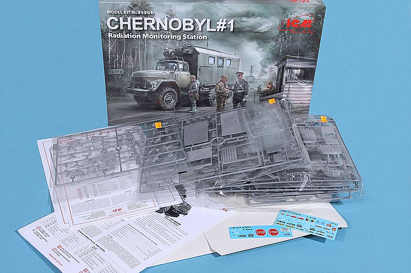 ICM-35901-Zil-131-Tschernobyl-Set-1-8 Chernobyl #1 Radiation Monitoring Station in 1:35 von ICM # 35901
