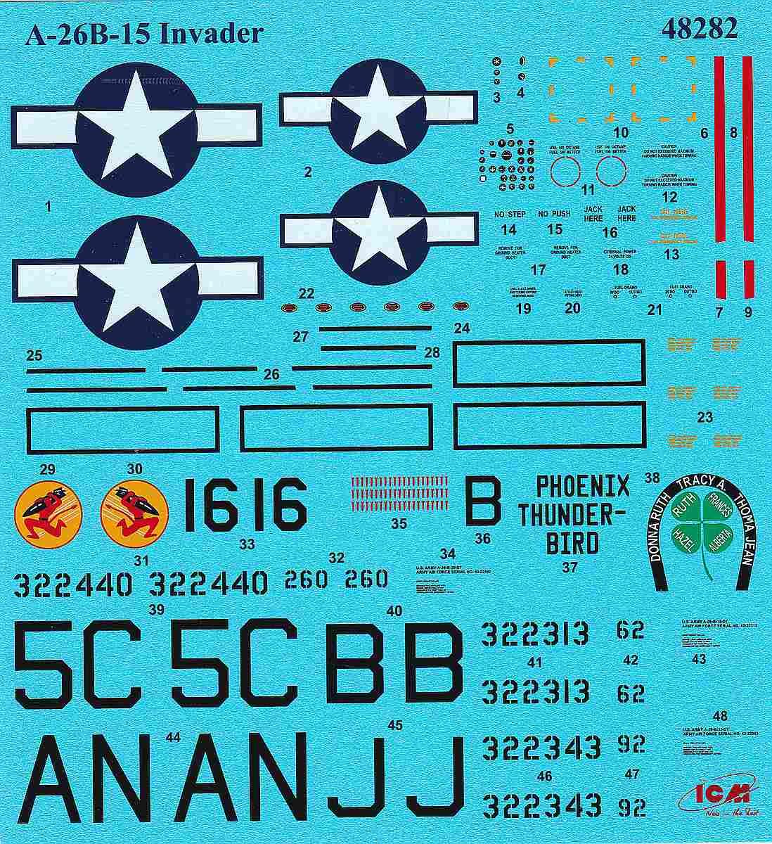 ICM-48282-A-26B-15-Invader-7 A-26B-15 Invader in 1:48 von ICM #48282