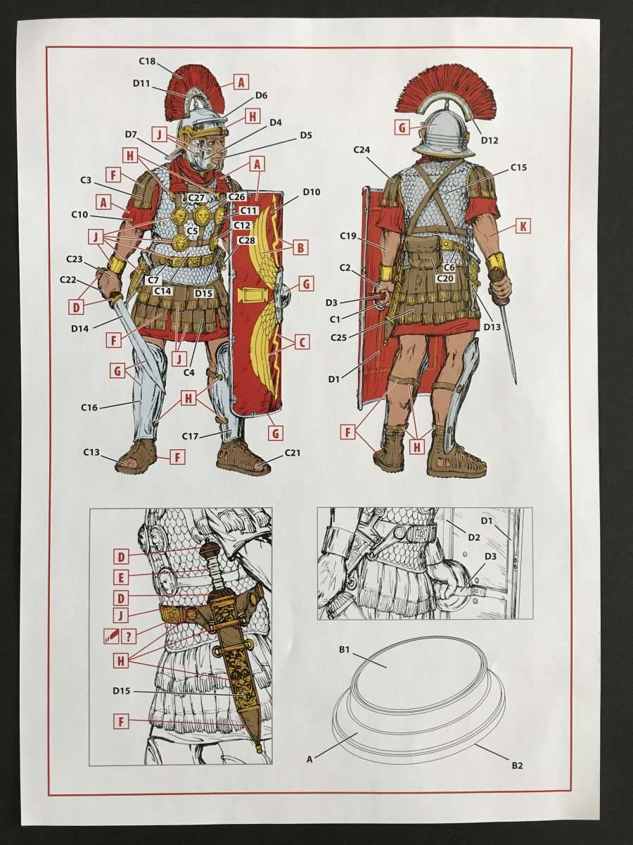 ICM_16302_ROMAN_CENTURION_I_CENTURY_05 Roman Centurion ( I Century) in 1:16 von ICM # 16302