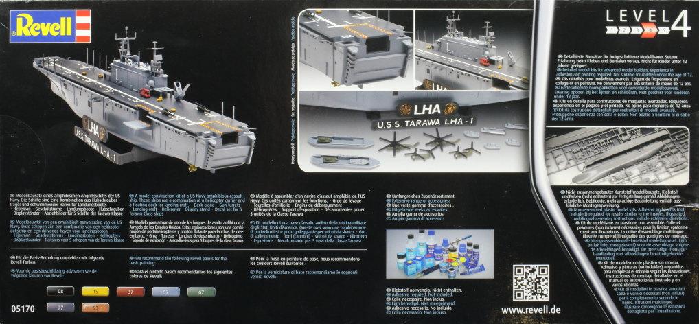 Review_Revell_Tawara_02 USS Tarawa LHA-1 in 1:720 von Revell #05170