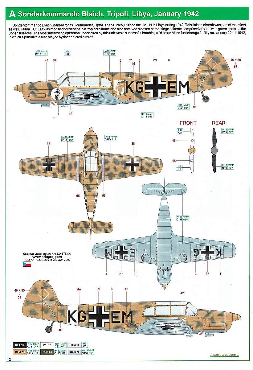 Eduard-3006-Bf-108-Taifun-Markierungen-1 Messerschmitt Bf 108 Taifun in 1:32 von Eduard #3006