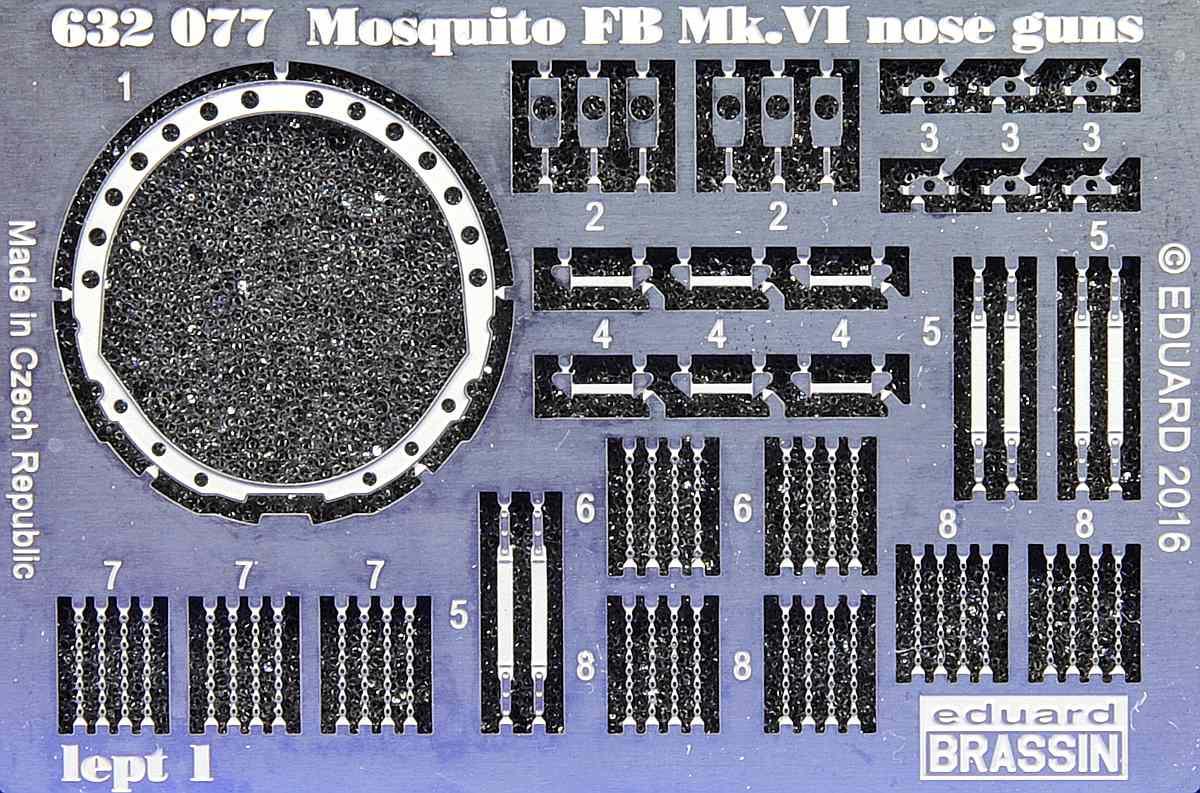 Eduard-632077-Mosquito-FB-MK-VI-Nose-Guns-8 Detailsets für Airfix Mosquito in 1:32 von Eduard # 632077 und 632078