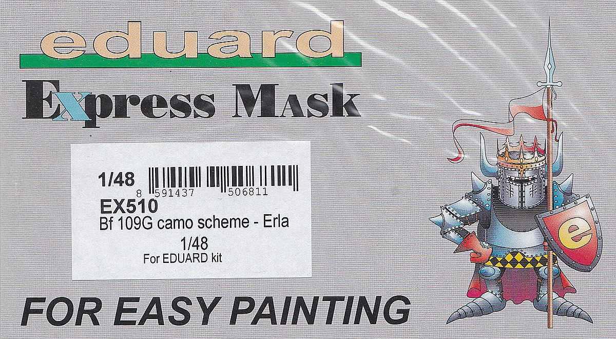 Eduard-EX-510-Bf-109G-Camo-scheme-Erla-3 Bf 109G Tarnmasken für Eduard von Eduard #EX 509, 510 und 511