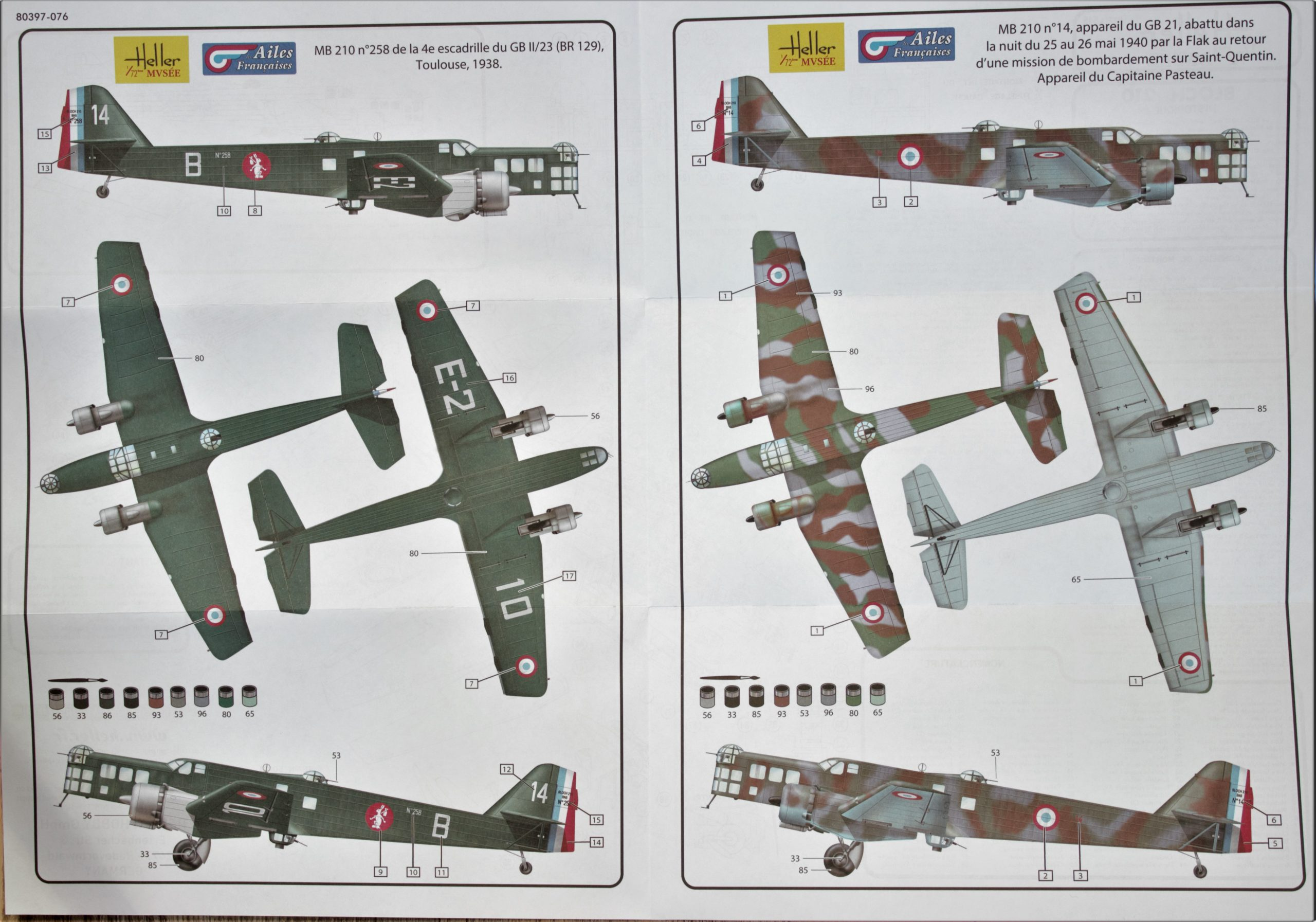 Heller-Bloch-210-Malplan-scaled Kit-Archäologie: Bloch MB 210 in 1:72 von Heller