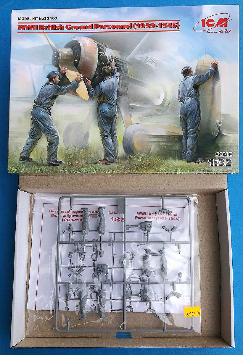 ICM-32107-WW-II-British-Ground-Personnel-2 British Ground Personnel 1939-45 in 1:32 von ICM #32107