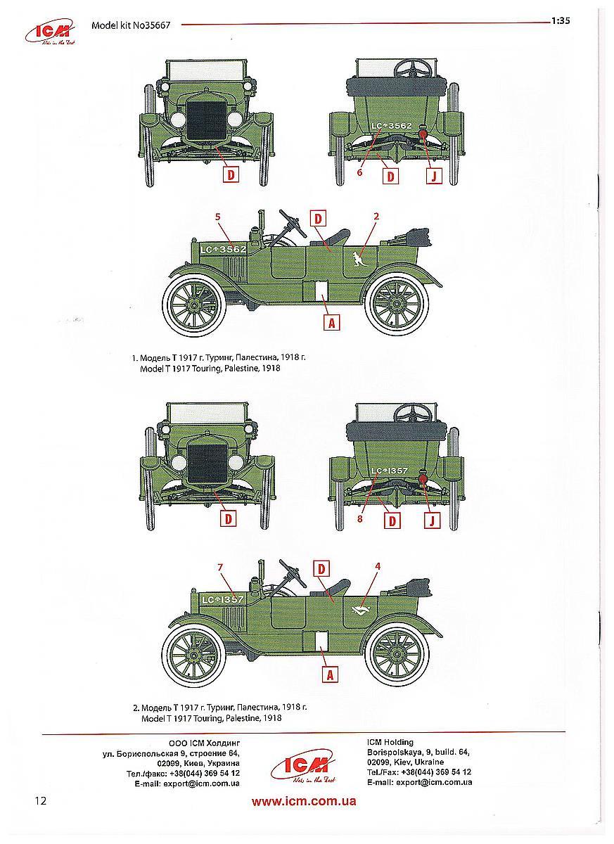 ICM-35667-Model-T-1917-Touring-Bauanleitung-Seite-12 WW I ANZAC Desert Patrol in 1:35 von ICM #DS 3510