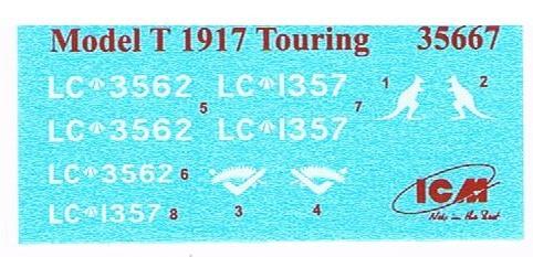 ICM-35667-Model-T-1917-Touring-Decals WW I ANZAC Desert Patrol in 1:35 von ICM #DS 3510