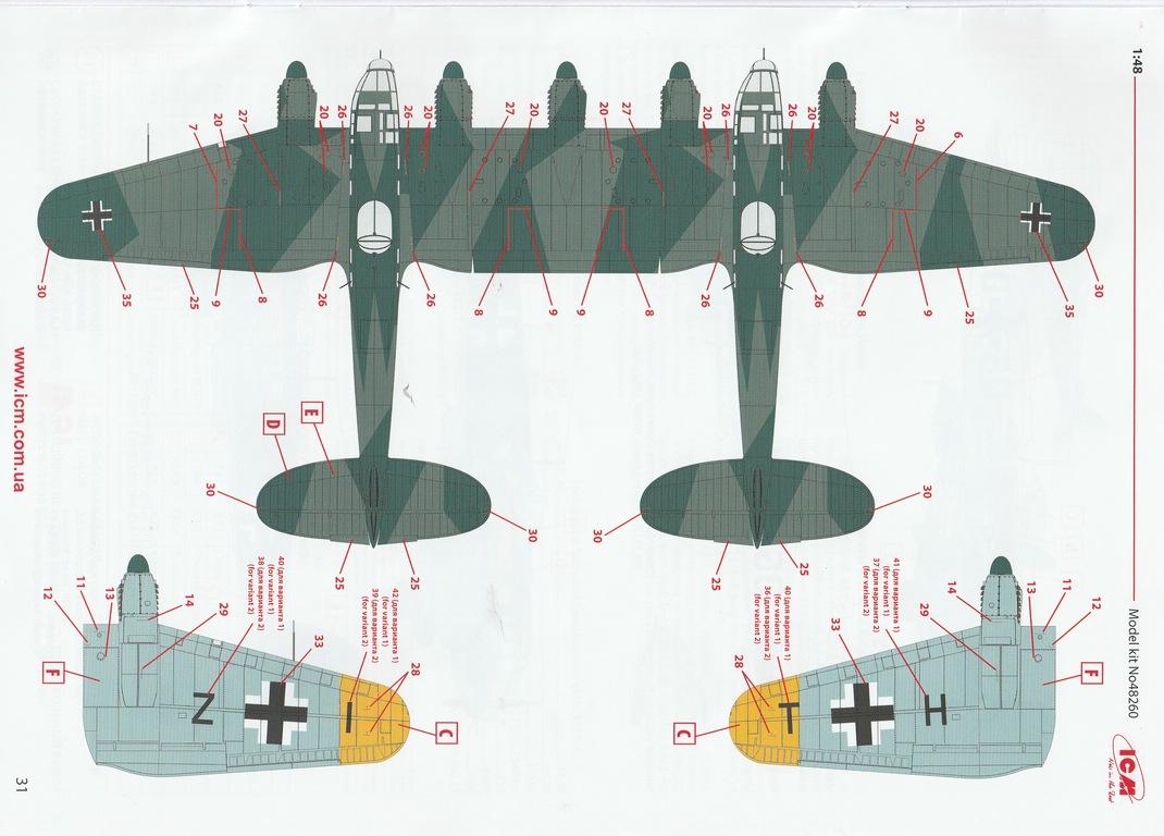 ICM-48260-He-111-Z-1-Zwilling-55 Heinkel He 111Z-1 Zwilling in 1:48 von ICM # 48260