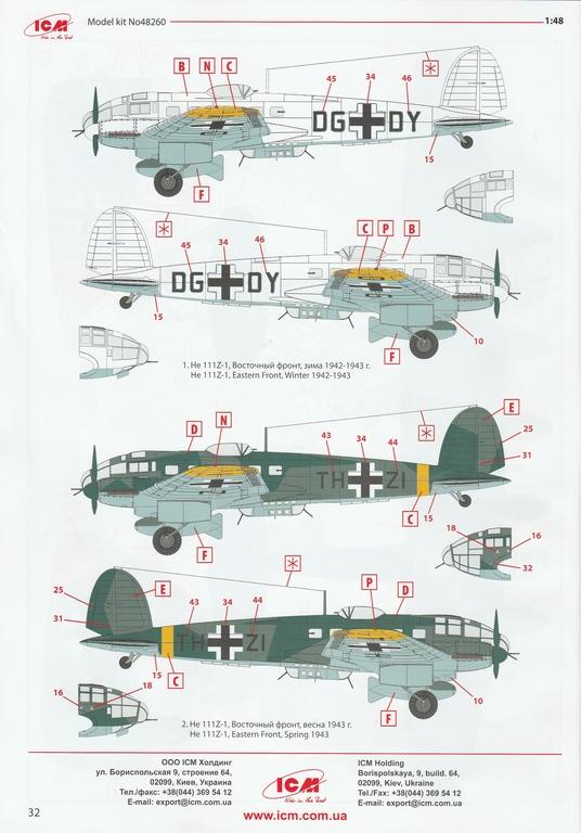 ICM-48260-He-111-Z-1-Zwilling-56 Heinkel He 111Z-1 Zwilling in 1:48 von ICM # 48260