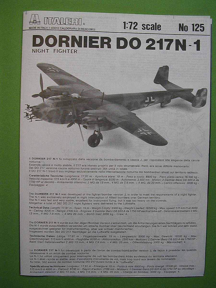 Italeri-Do-217-N-1-6 Kit-Archäologie: Dornier Do 217 N-1 in 1:72 von Italeri